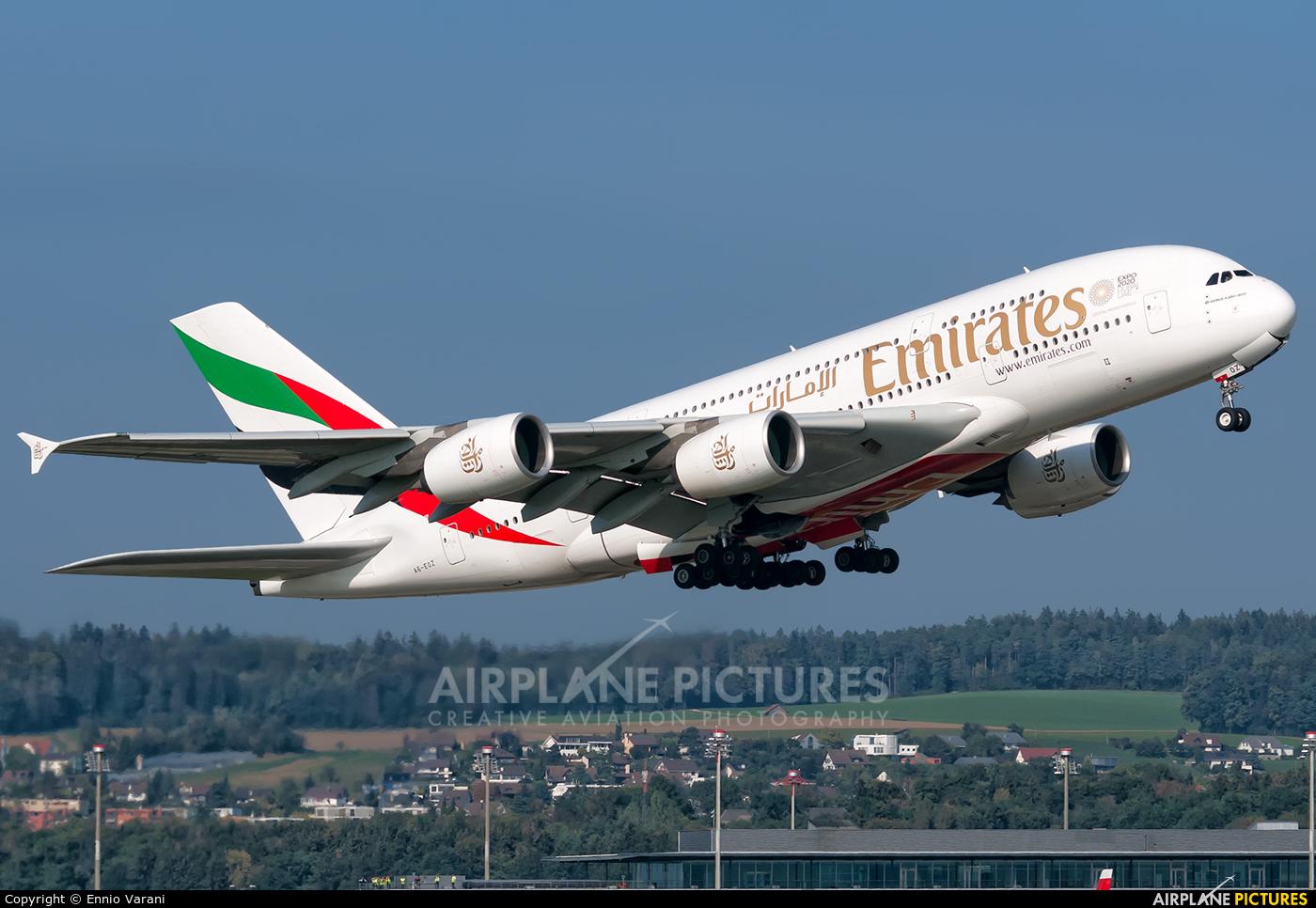 Emirates Airlines A6-EOZ aircraft at Zurich