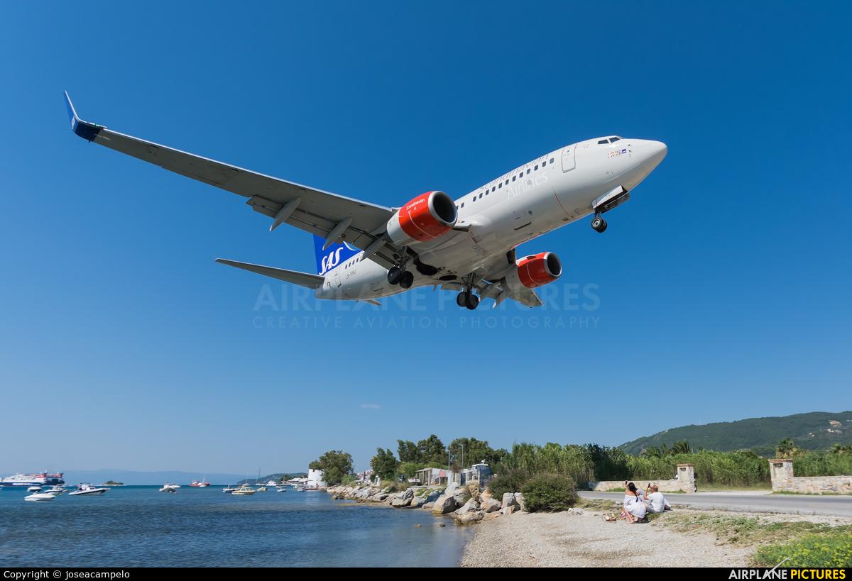 SAS - Scandinavian Airlines LN-RNU aircraft at Skiathos
