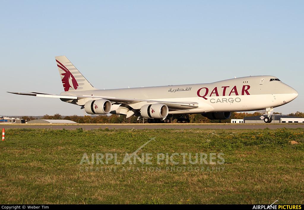 Qatar Airways Cargo A7-BGB aircraft at Luxembourg - Findel