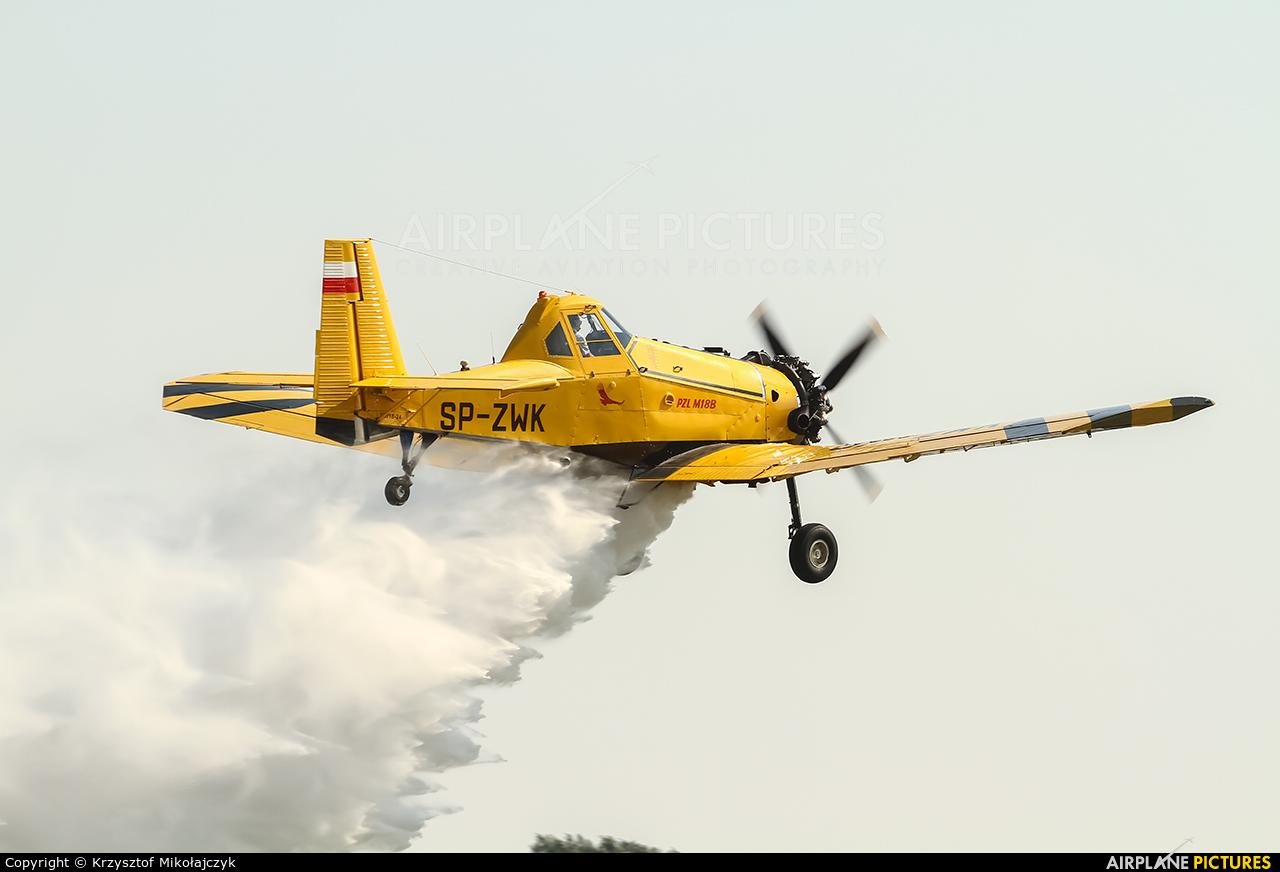 Private SP-ZWK aircraft at Wrocław - Szymanów