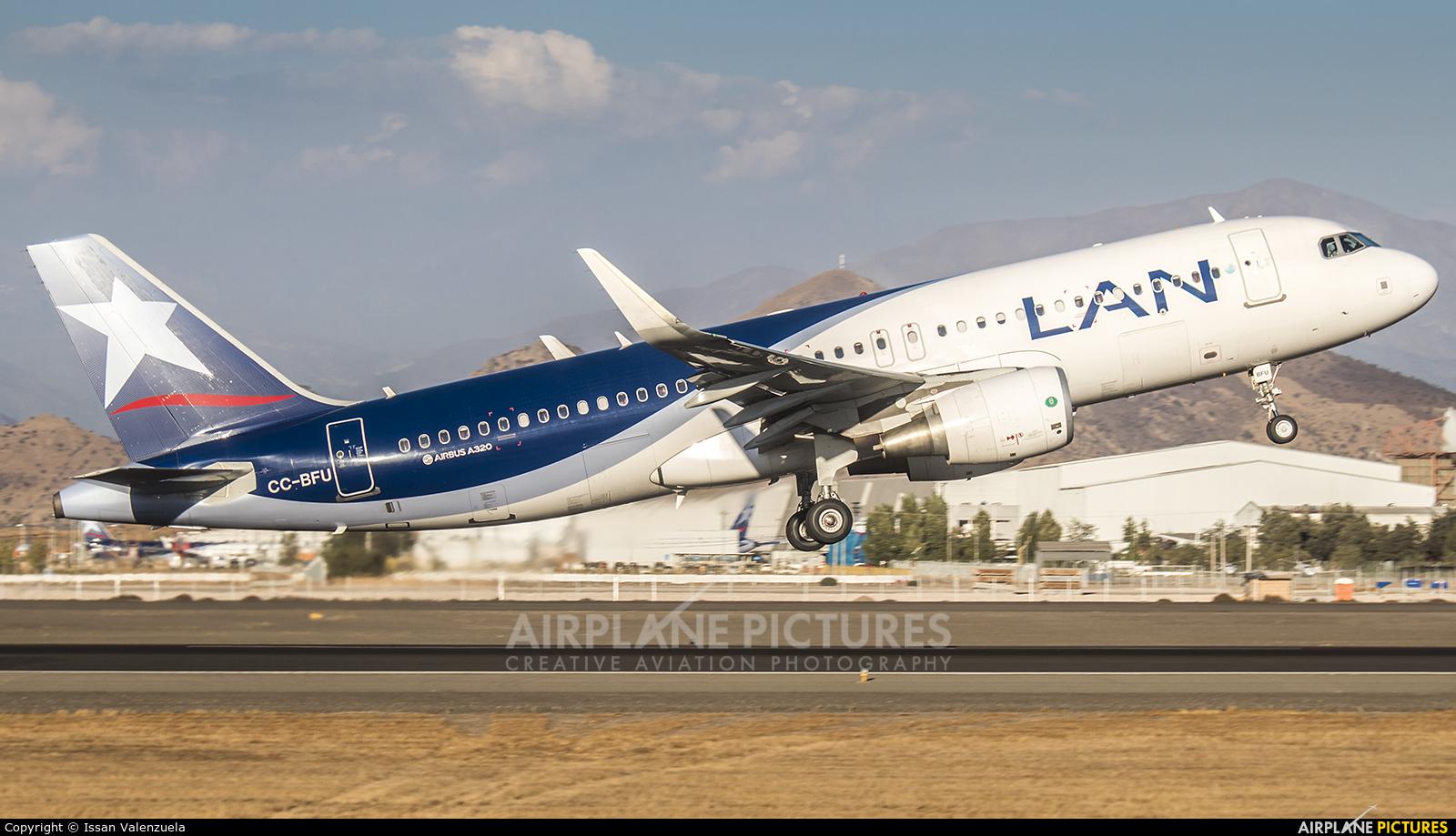LAN Airlines CC-BFU aircraft at Santiago de Chile - Arturo Merino Benítez Intl