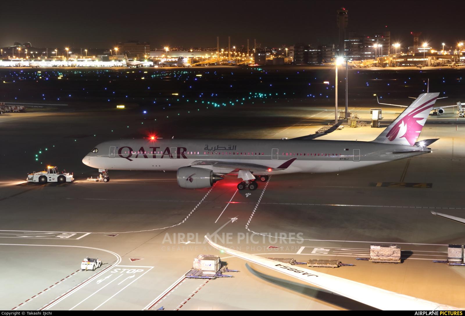 Qatar Airways A7-ALJ aircraft at Tokyo - Haneda Intl