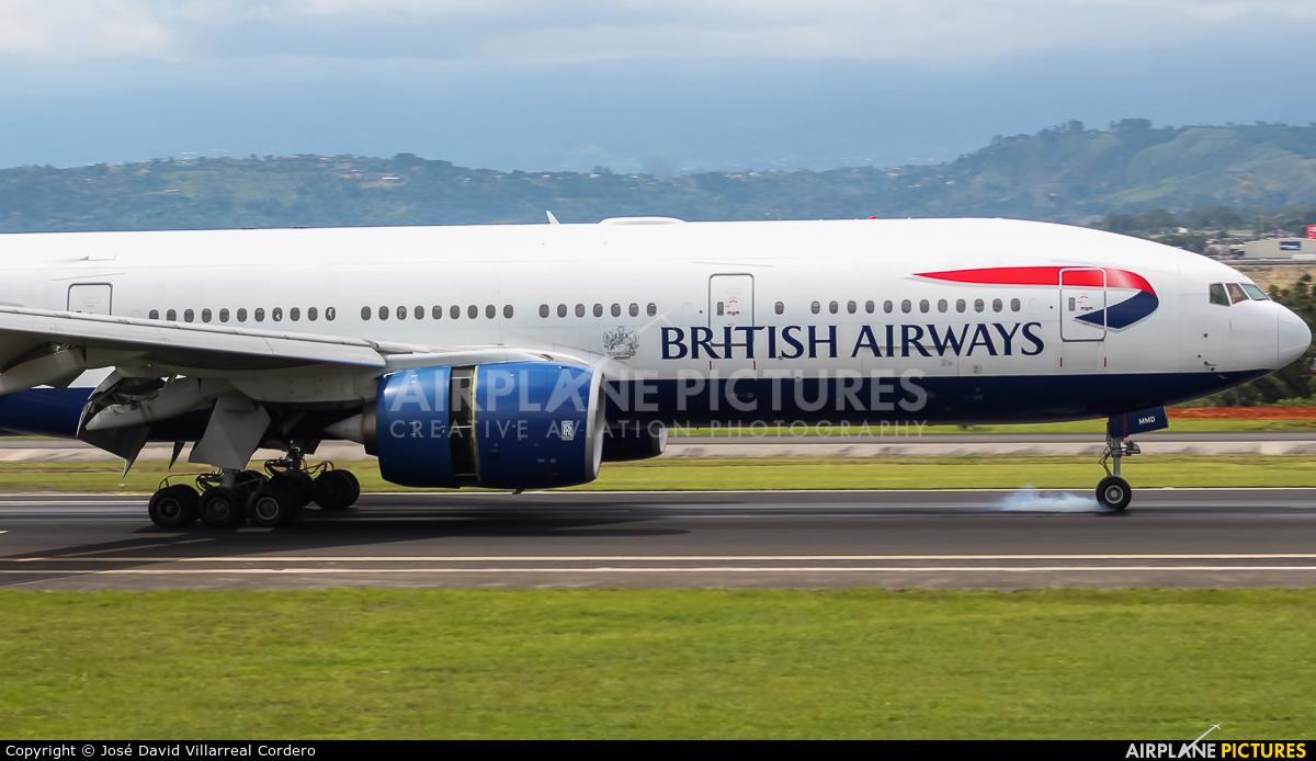 British Airways G-YMMD aircraft at San Jose - Juan Santamaría Intl