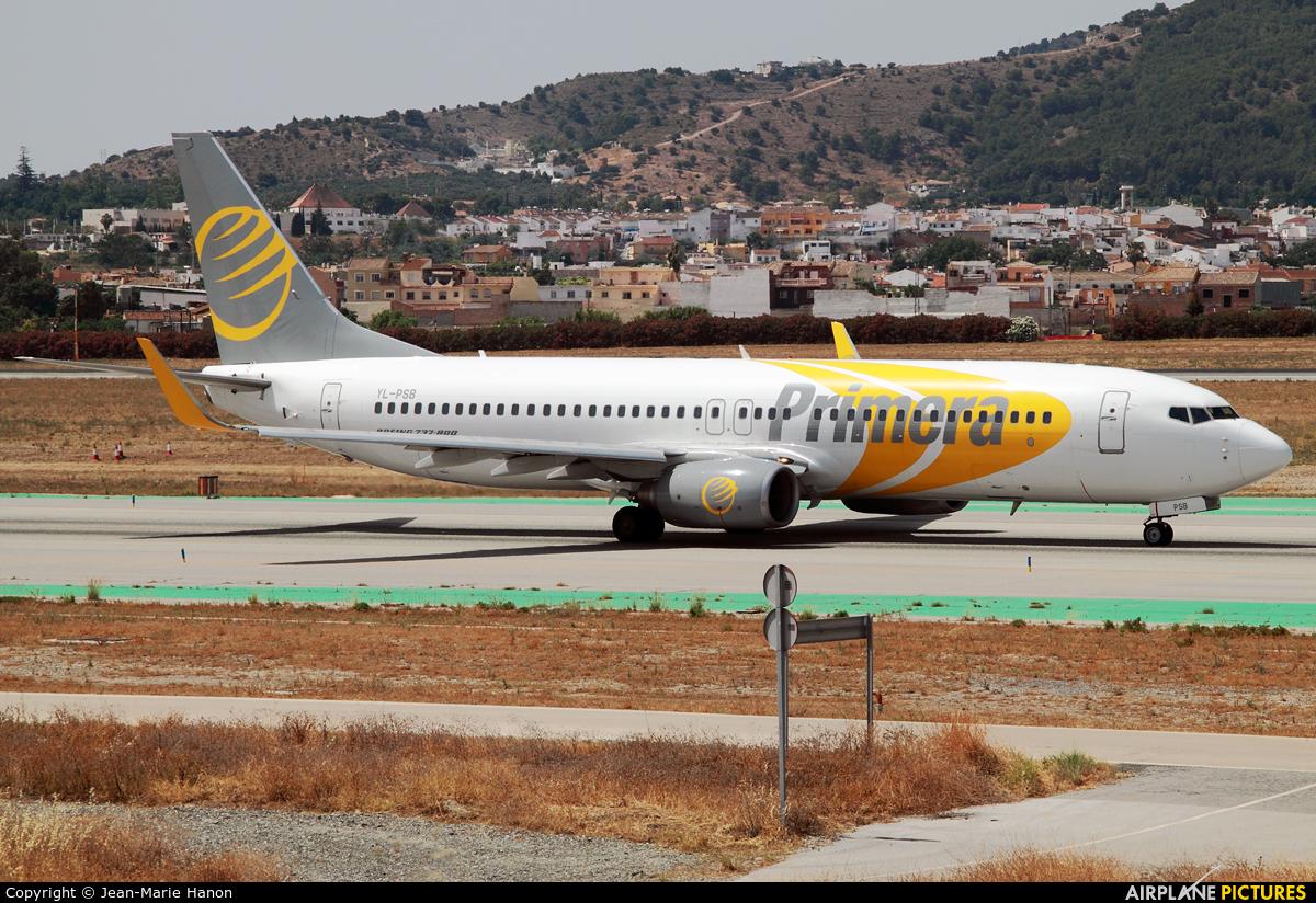 Primera Air Scandinavia YL-PSB aircraft at Málaga
