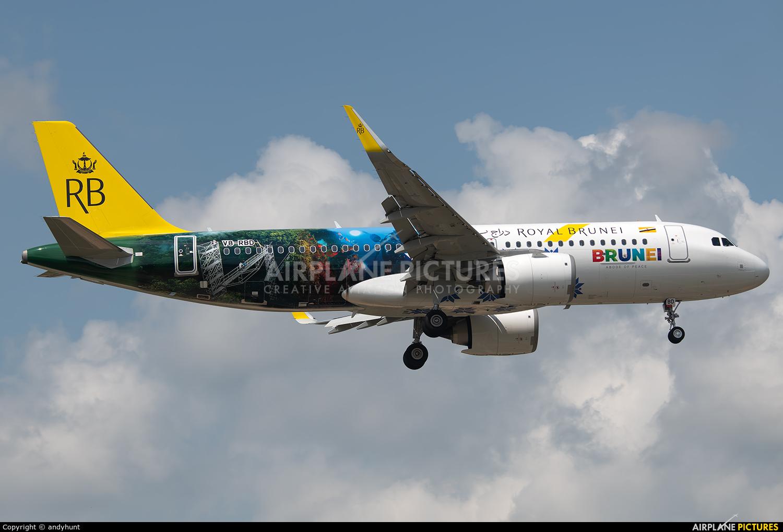Royal Brunei Airlines V8-RBD aircraft at Kuala Lumpur Intl