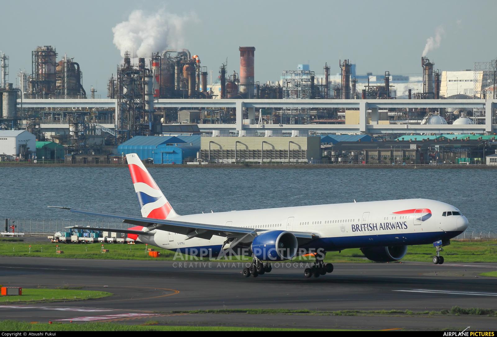 British Airways G-STBJ aircraft at Tokyo - Haneda Intl