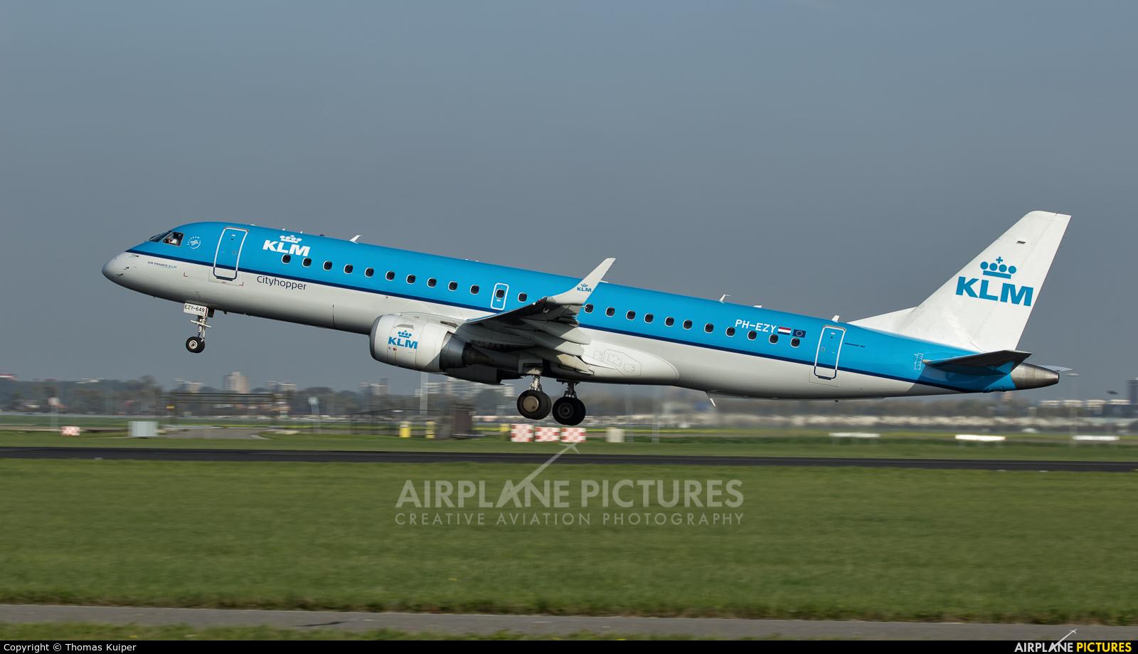KLM Cityhopper PH-EZY aircraft at Amsterdam - Schiphol