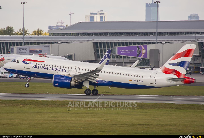 British Airways G-TTNA aircraft at Warsaw - Frederic Chopin