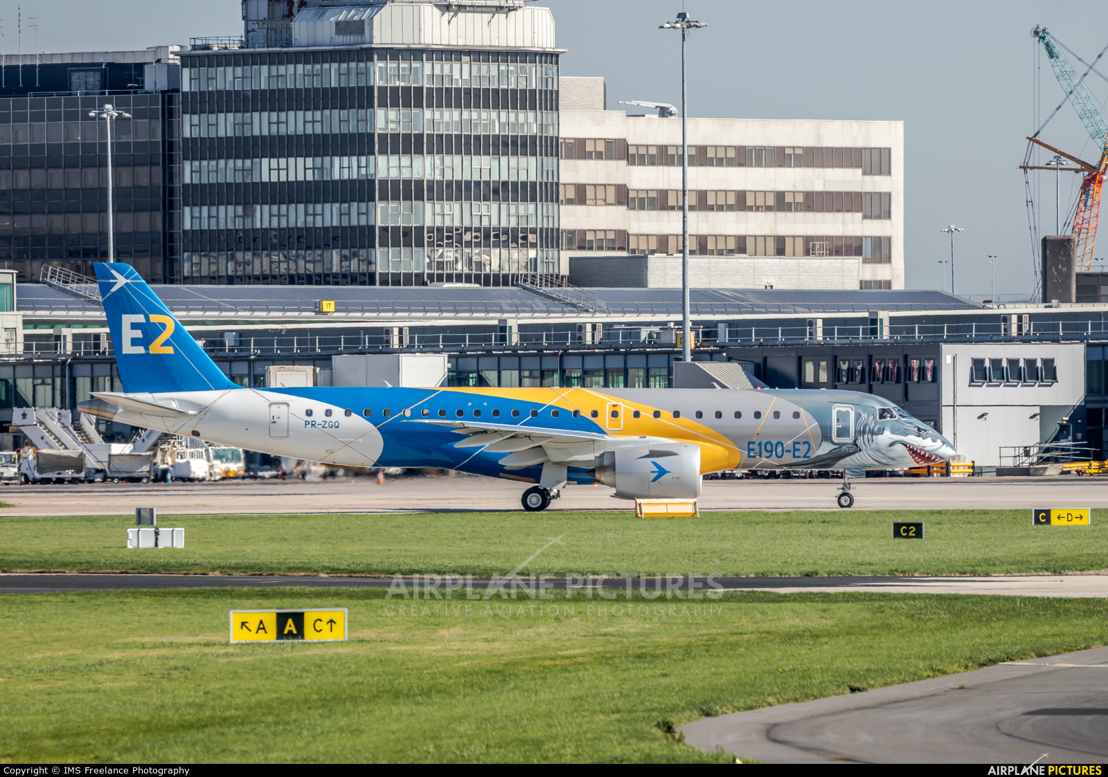 Embraer PR-ZGQ aircraft at Manchester