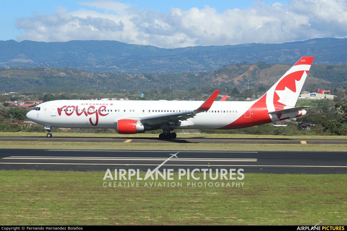 Air Canada Rouge C-FMWV aircraft at San Jose - Juan Santamaría Intl