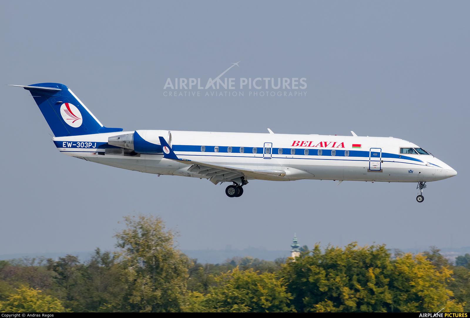 Belavia EW-303PJ aircraft at Budapest Ferenc Liszt International Airport