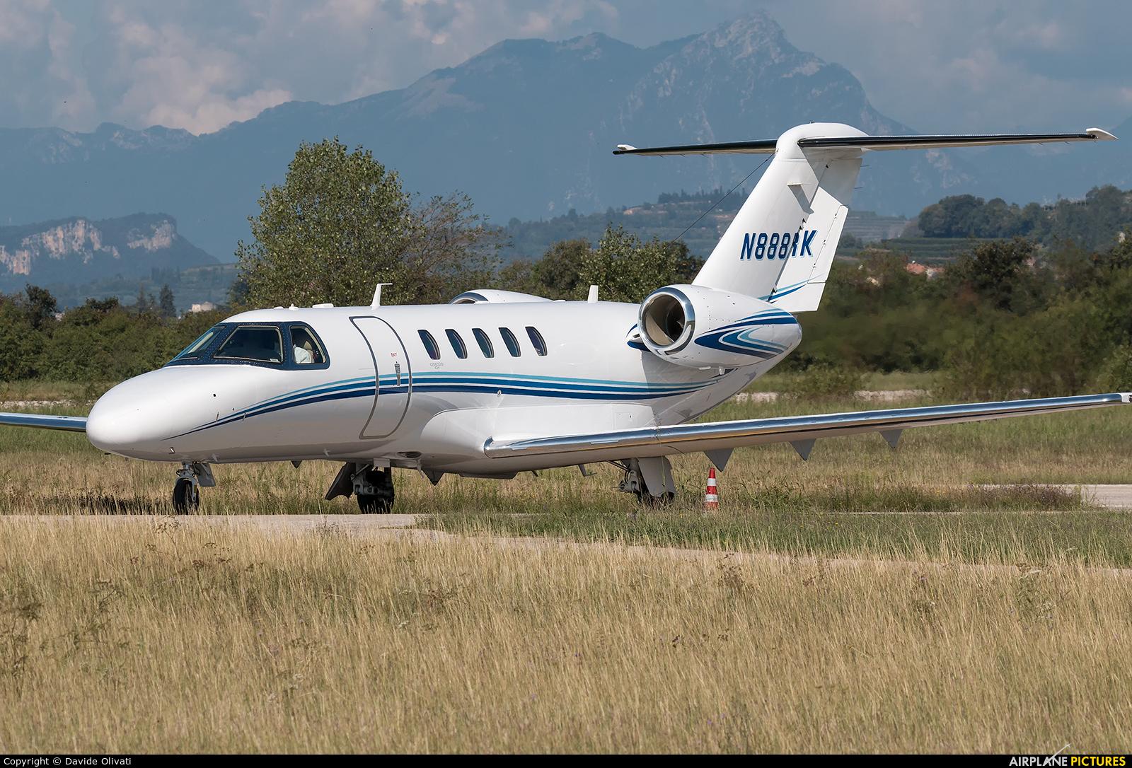 Private N888RK aircraft at Verona - Boscomantico