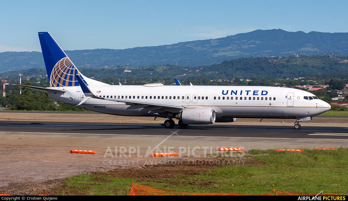 United Airlines N78509 aircraft at San Jose - Juan Santamaría Intl