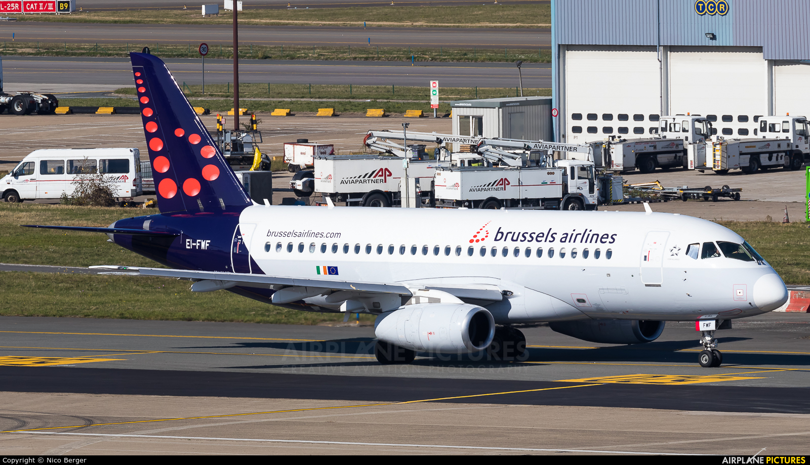 Brussels Airlines EI-FWF aircraft at Brussels - Zaventem