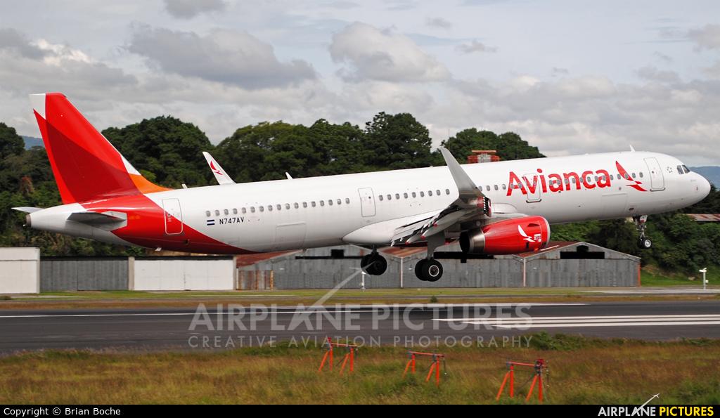 Avianca N747AV aircraft at Guatemala - La Aurora