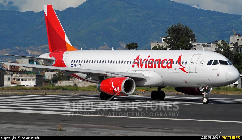 Avianca N685TA aircraft at Guatemala - La Aurora