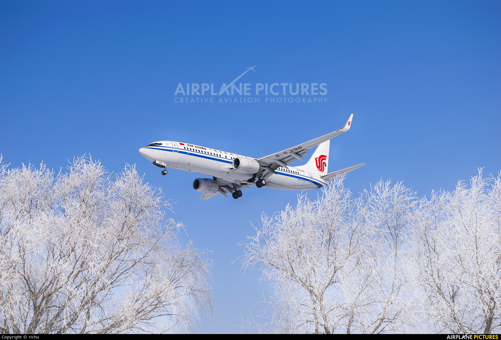 Air China B-5398 aircraft at Shenyang-Taoxian