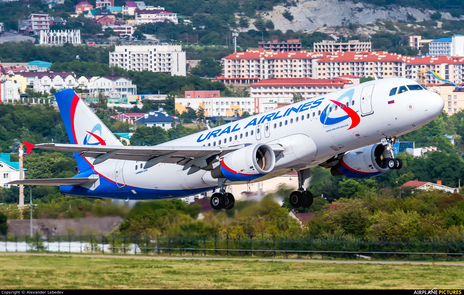 Ural Airlines VP-BKB aircraft at Gelendzhik