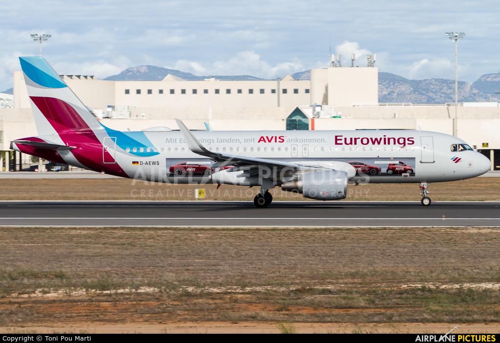 Eurowings D-AEWS aircraft at Palma de Mallorca