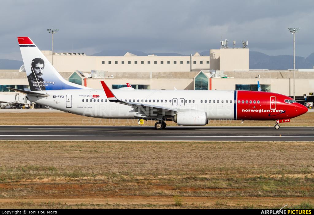 Norwegian Air International EI-FVX aircraft at Palma de Mallorca