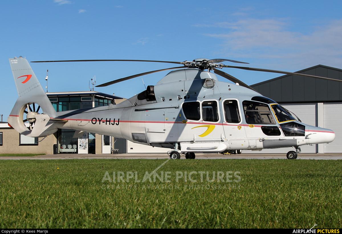 Dancopter OY-HJJ aircraft at Middelburg - Midden Zeeland