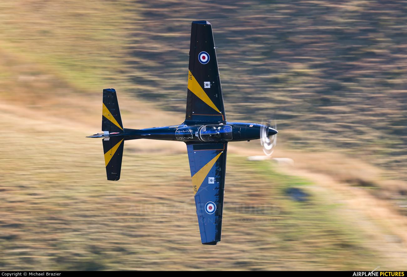 Royal Air Force ZF317 aircraft at Machynlleth Loop - LFA 7