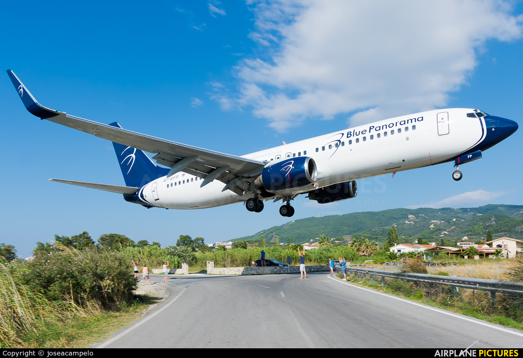 Blue Panorama Airlines EI-GFP aircraft at Skiathos