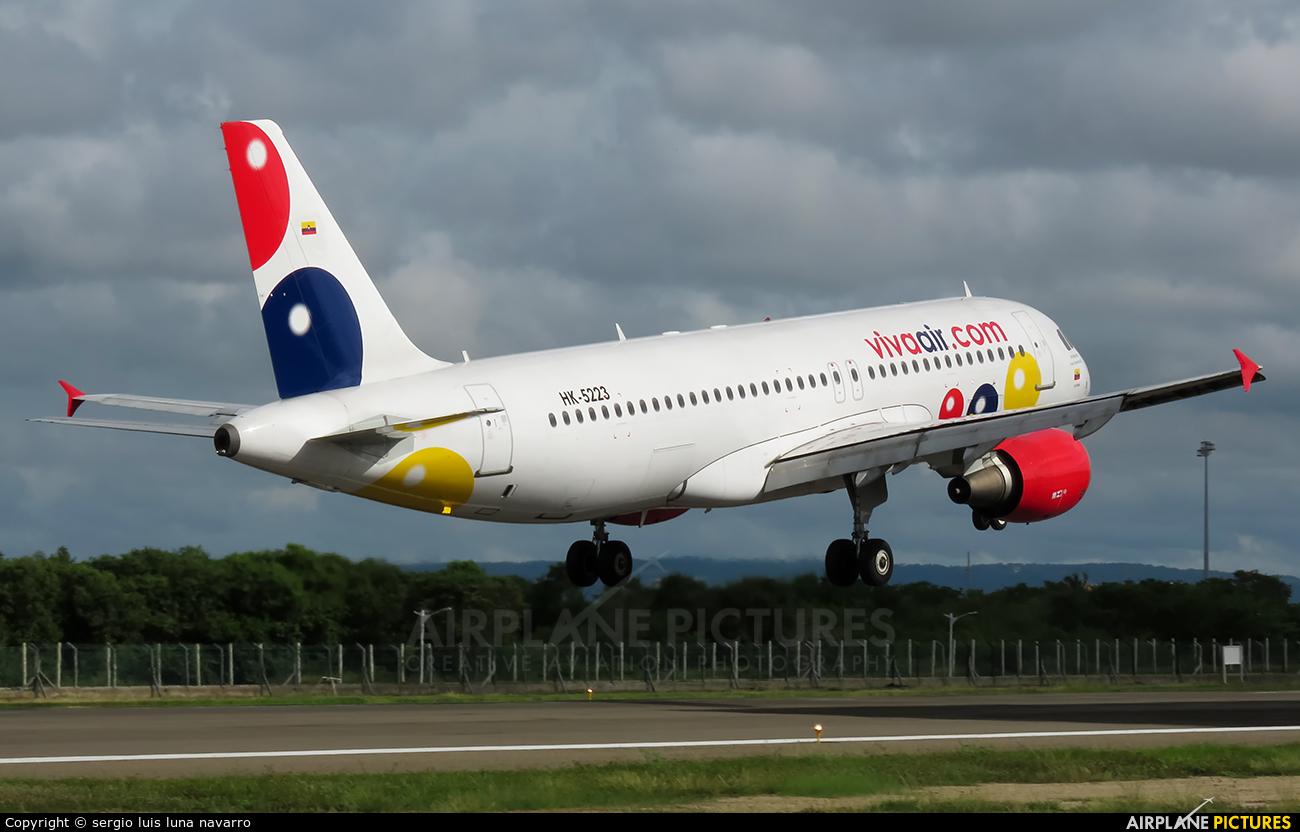 Viva Air HK-5223 aircraft at Cartagena - Rafael Núñez