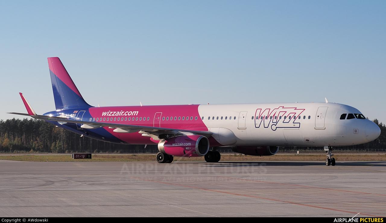 Wizz Air UK G-WUKG aircraft at Olsztyn Mazury Airport (Szymany)
