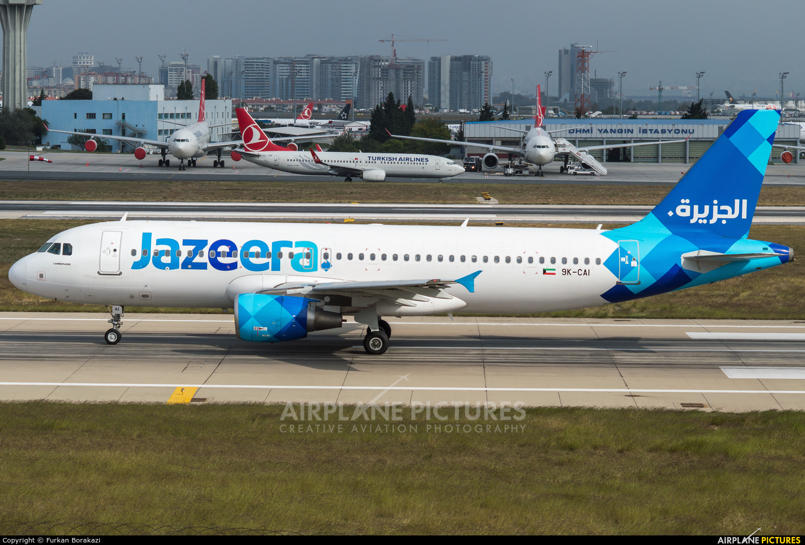 Jazeera Airways 9K-CAI aircraft at Istanbul - Ataturk