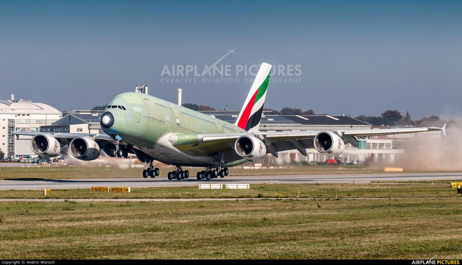Emirates Airlines F-WWSY aircraft at Hamburg - Finkenwerder