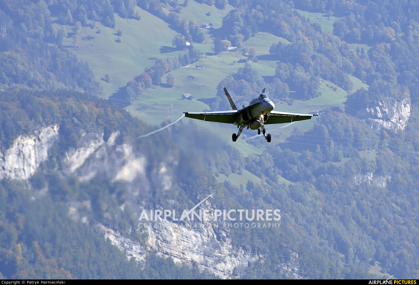 Switzerland - Air Force J-5003 aircraft at Axalp - Ebenfluh Range