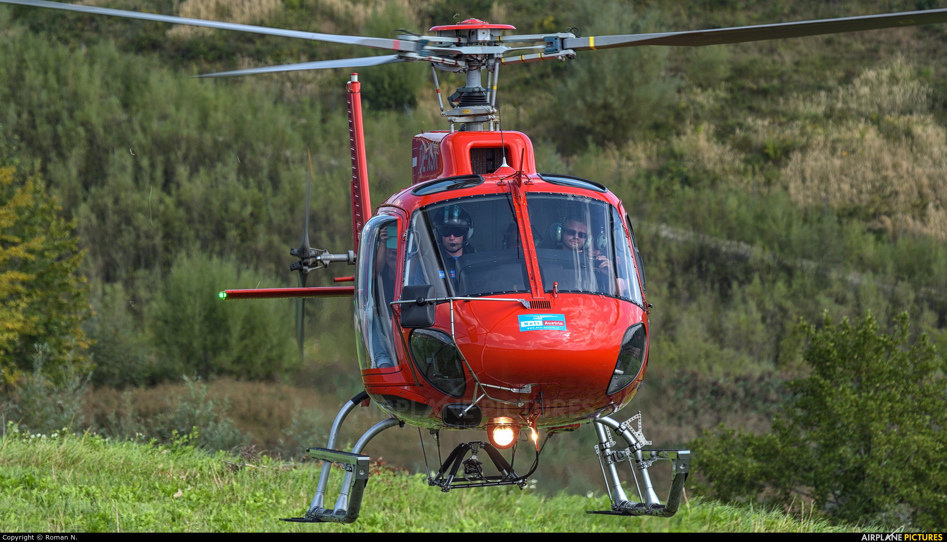 Heli Tirol OE-XSK aircraft at Off Airport - Austria