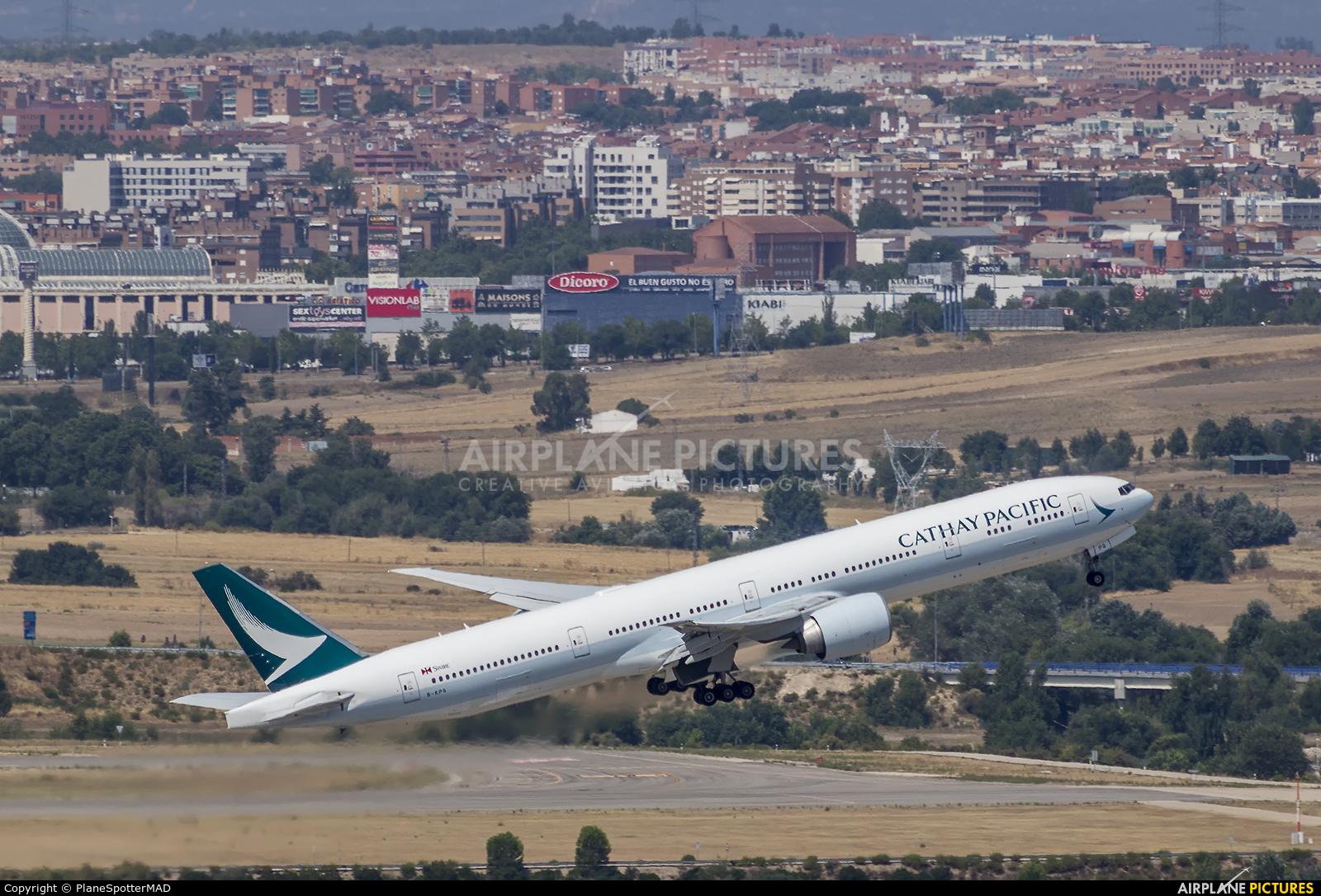 Cathay Pacific B-KPQ aircraft at Madrid - Barajas