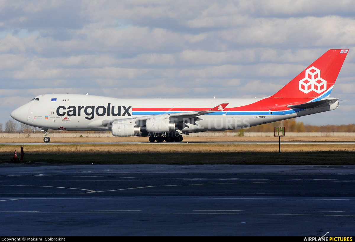 Cargolux LX-WCV aircraft at Novosibirsk