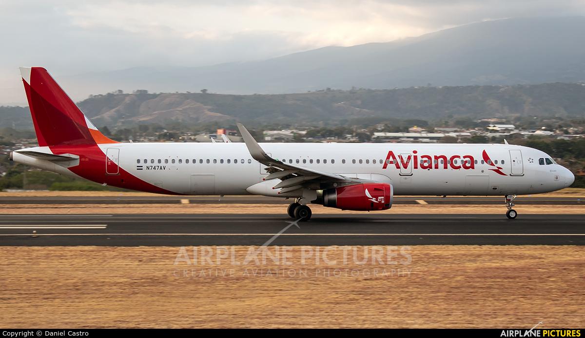 Avianca N747AV aircraft at San Jose - Juan Santamaría Intl