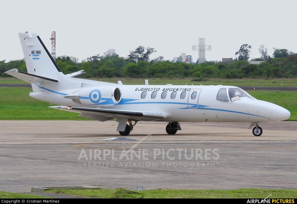 Argentina - Army AE-186 aircraft at Formosa Intl