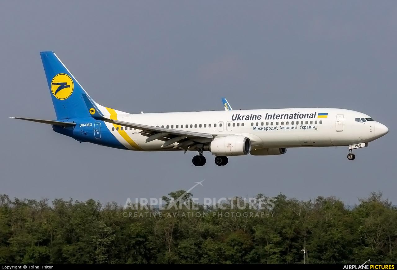 Ukraine International Airlines UR-PSG aircraft at Budapest Ferenc Liszt International Airport
