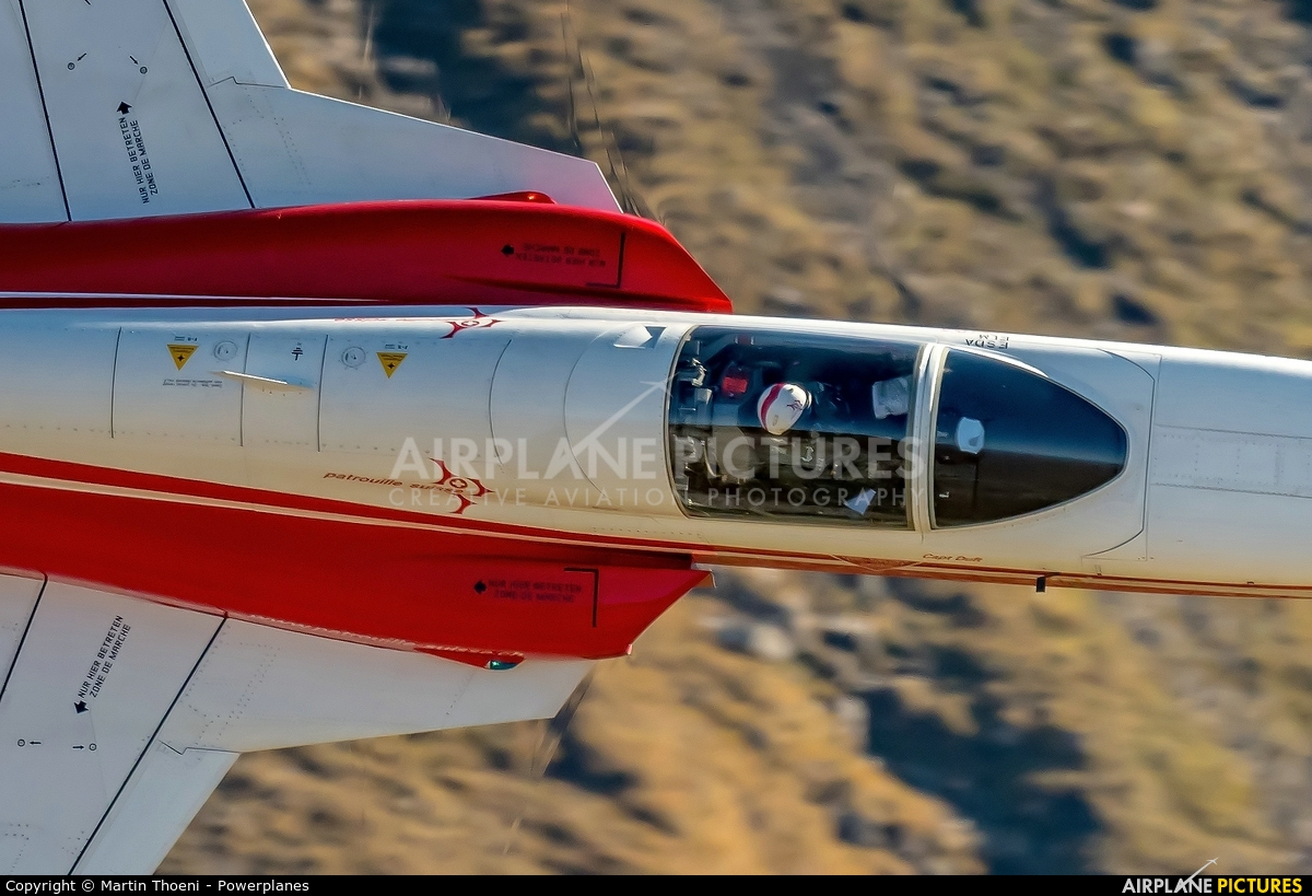 Switzerland - Air Force:  Patrouille de Suisse J-3090 aircraft at Axalp - Ebenfluh Range