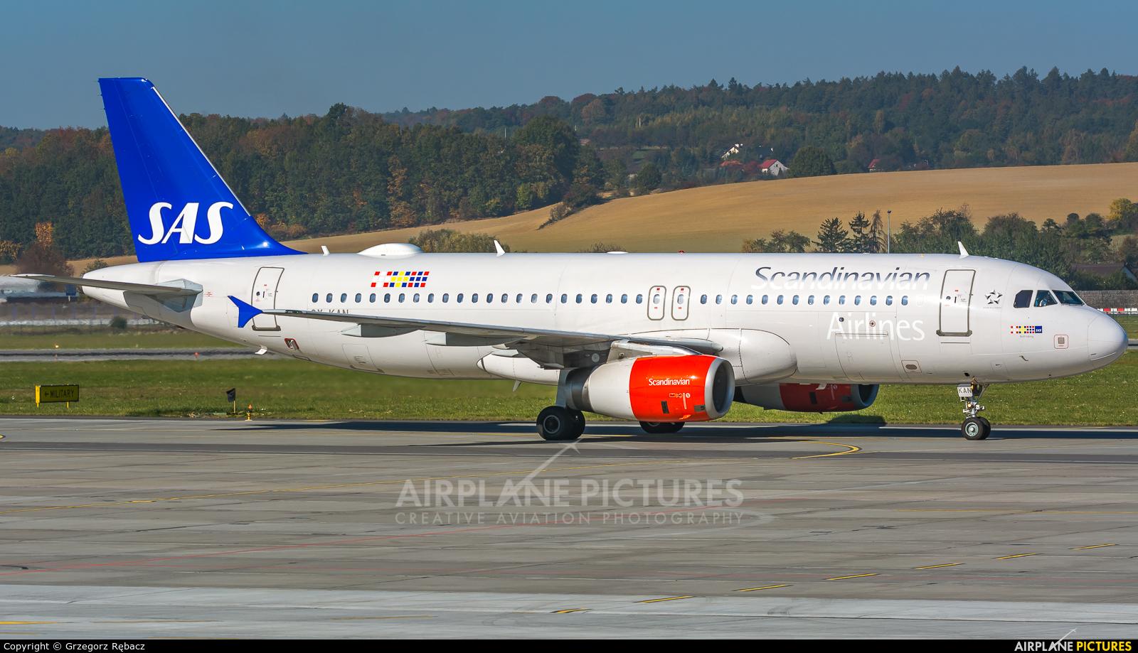 SAS - Scandinavian Airlines OY-KAN aircraft at Kraków - John Paul II Intl