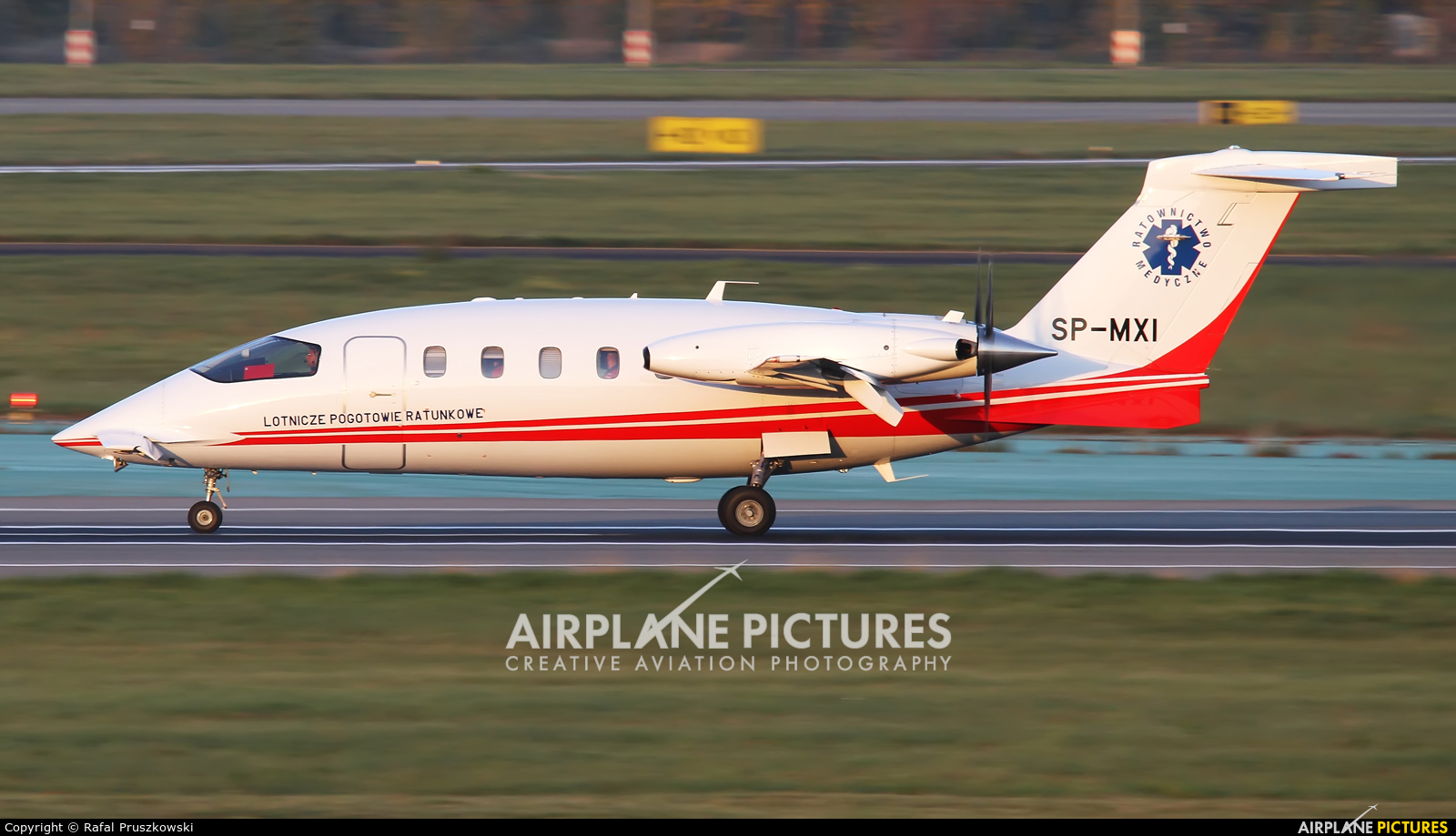 Polish Medical Air Rescue - Lotnicze Pogotowie Ratunkowe SP-MXI aircraft at Warsaw - Frederic Chopin