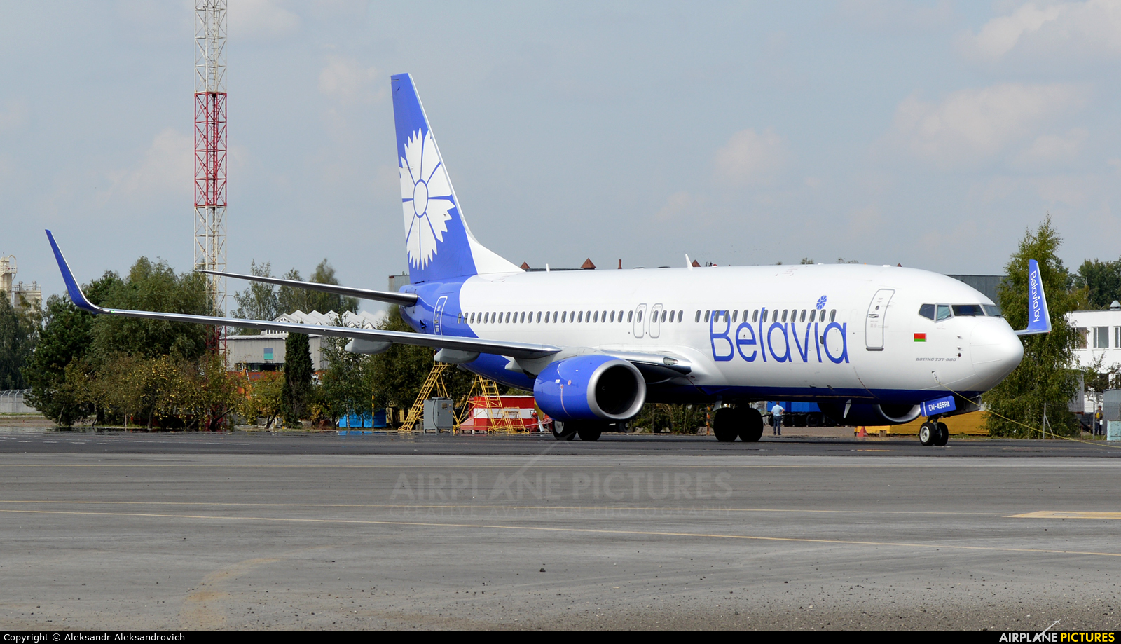 Belavia EW-455PA aircraft at Brest Airport