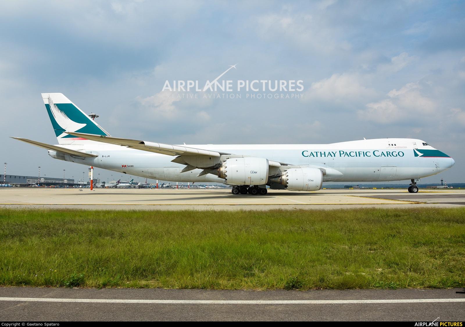 Cathay Pacific Cargo B-LJK aircraft at Milan - Malpensa