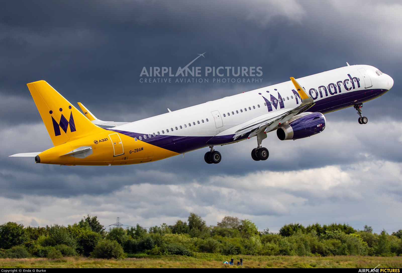 Monarch Airlines G-ZBAM aircraft at Manchester