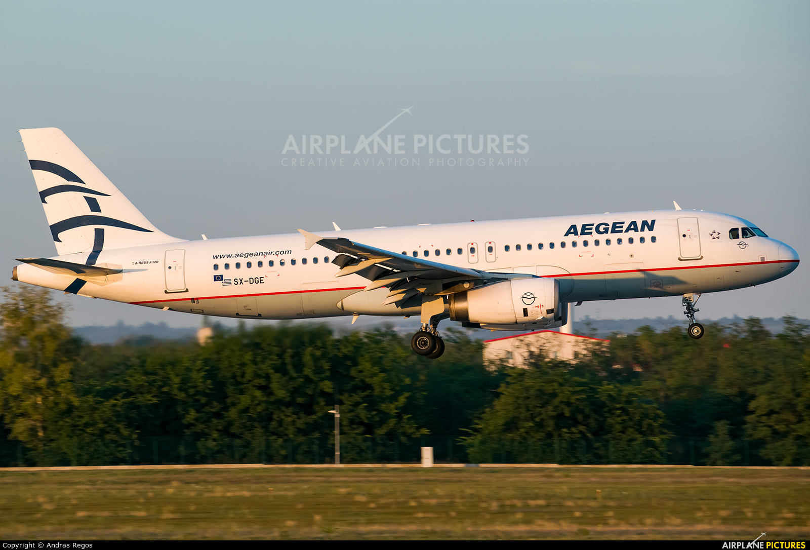 Aegean Airlines SX-DGE aircraft at Budapest Ferenc Liszt International Airport