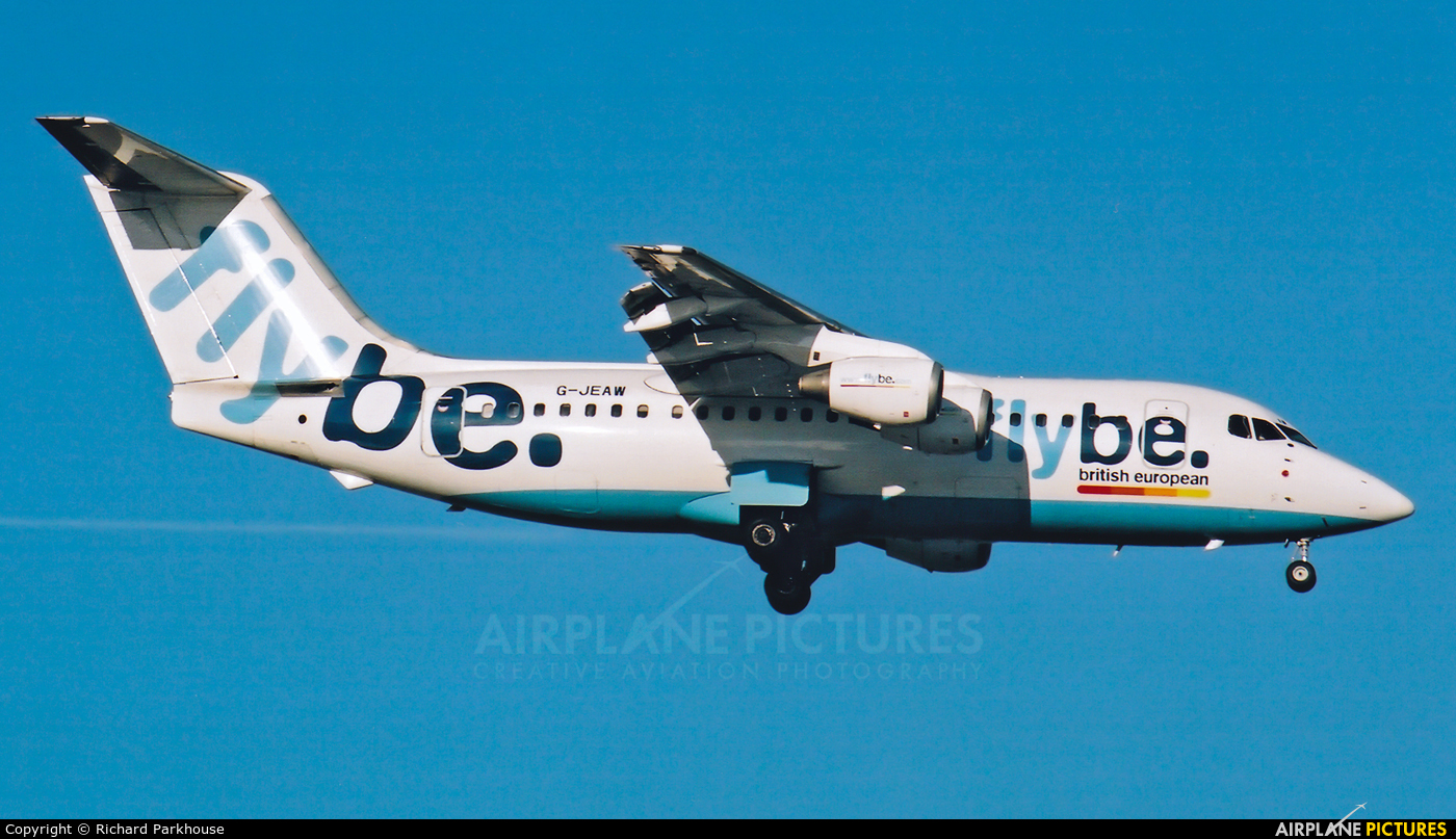 Flybe G-JEAW aircraft at London - Gatwick