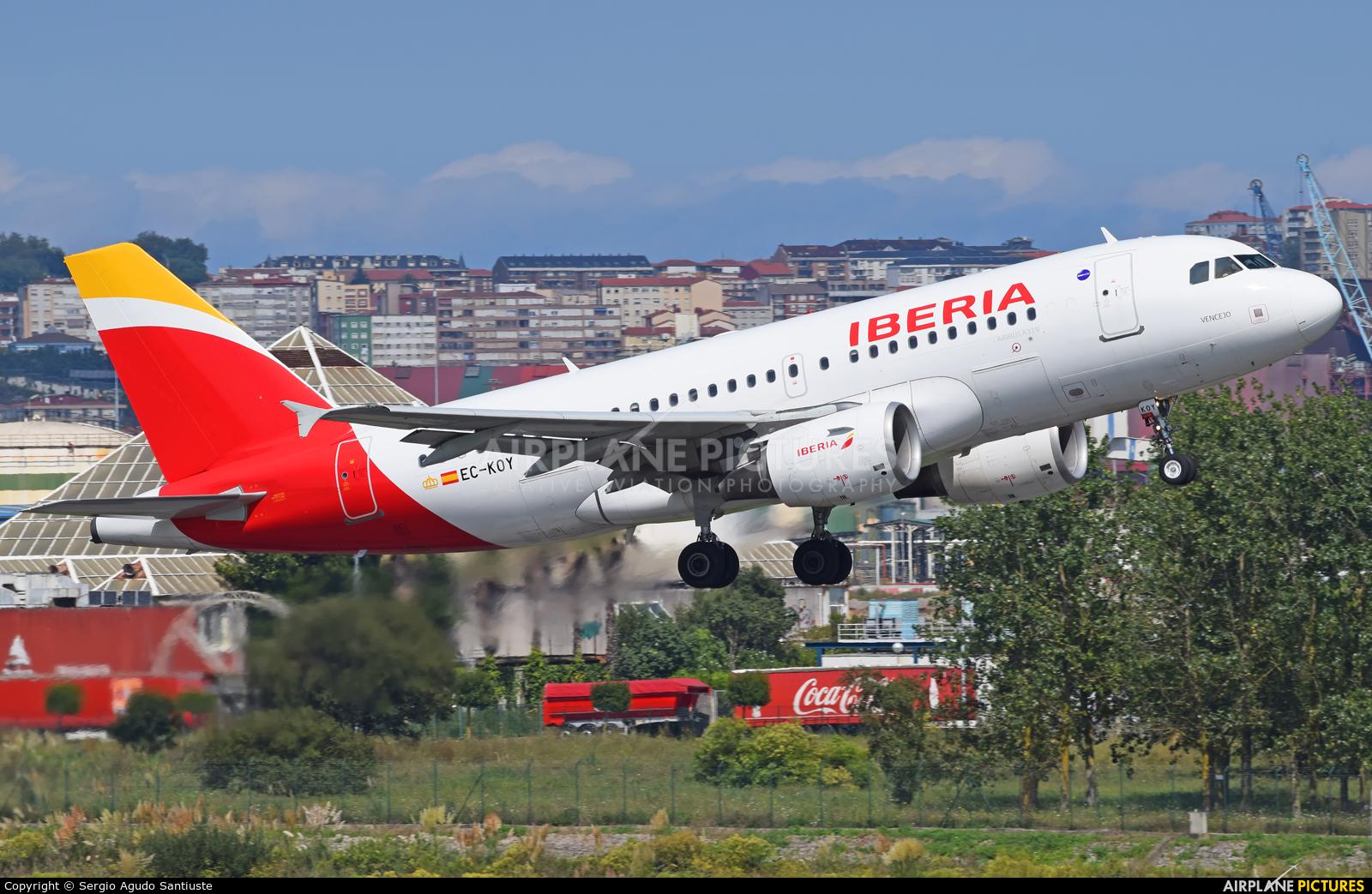Iberia EC-KOY aircraft at Santander