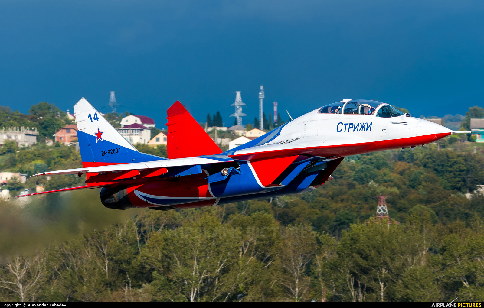 "Russia - Air Force ""Strizhi"" RF-92804 aircraft at Sochi Intl"