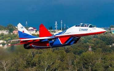"RF-92804 - Russia - Air Force ""Strizhi"" Mikoyan-Gurevich MiG-29UB"