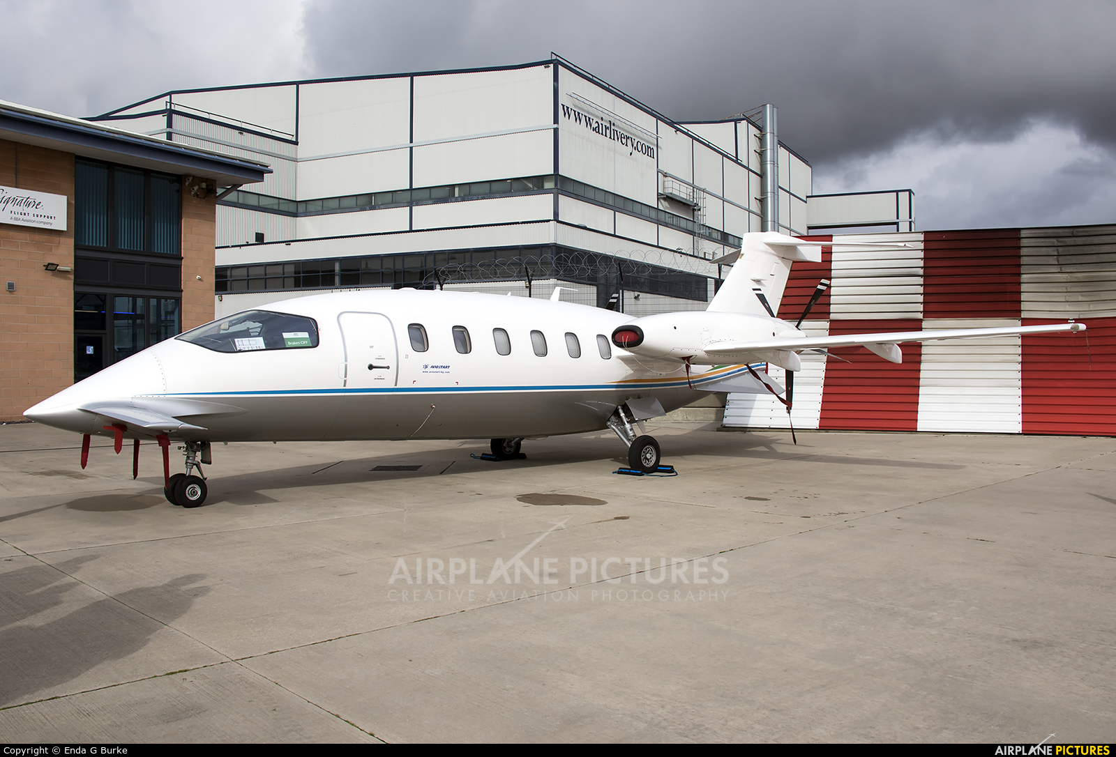 Private LZ-ASO aircraft at Manchester